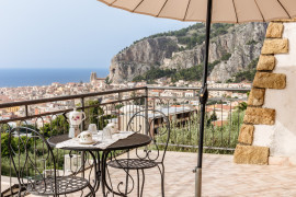 Charming Terrace on the Gulf of Cefalù by Wonderful Italy