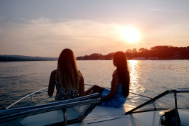 Gulf of Naples sunset aperitivo on board
