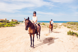 Horse back riding Montalbano di Fasano, countryside and beach experience