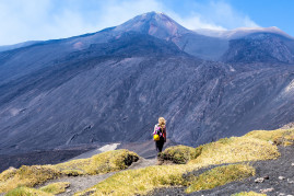 Hiking to the summit craters of Mount Etna
