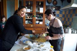 Cooking class of arancini a few steps from Santa Flavia's seaside