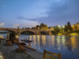 Sunset boat Aperitivo on River Po in Turin