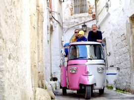 Green Ape car tour of the Medieval Ostuni
