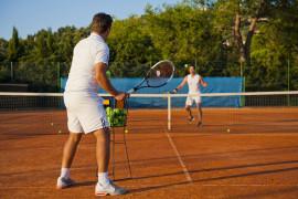 Lezione di tennis a Rapallo