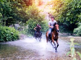Horseback riding through the Sicilian Canyons, Pollina River and Madonie