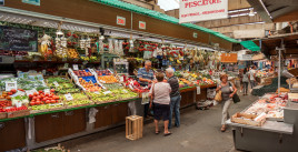 The markets in Genova