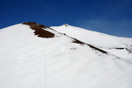 Skiing on Mount Etna
